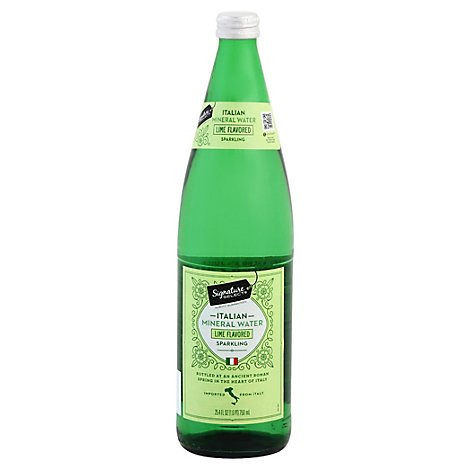 Signature Select Sparkling Water Italian Mineral Lime - 25.4 Fl. Oz.