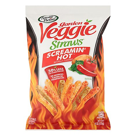 Snsbl Portions Straws Veggie Scrmin Hot - 6 Oz