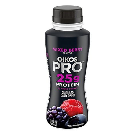 Oikos Pro Fuel Dairy Drink Caffeinated & Cultured Mixed Berry - 10 Fl. Oz.