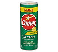 Comet Cleanser Lemon Powder With Bleach - 21 Oz