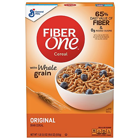 Fiber One Cereal Bran Original - 19.6 Oz