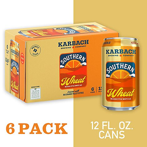 Karbach Southern Wheat In Cans - 6-12 Fl. Oz.