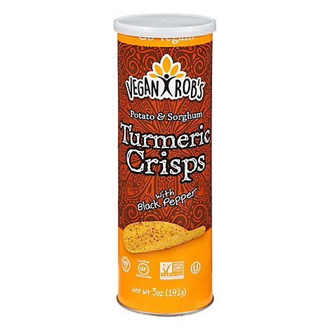 Veganrobs Crisps Turmeric Pepper - 5 Oz
