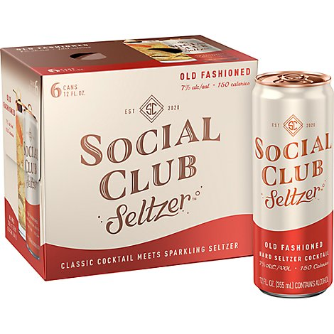 Social Club Old Fashion In Cans - 9-8 Fl. Oz.