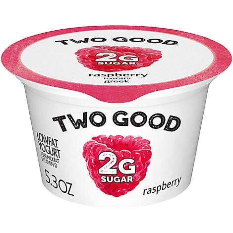 Two Good Greek Yogurt Low Fat Raspberry - 5.3 Oz