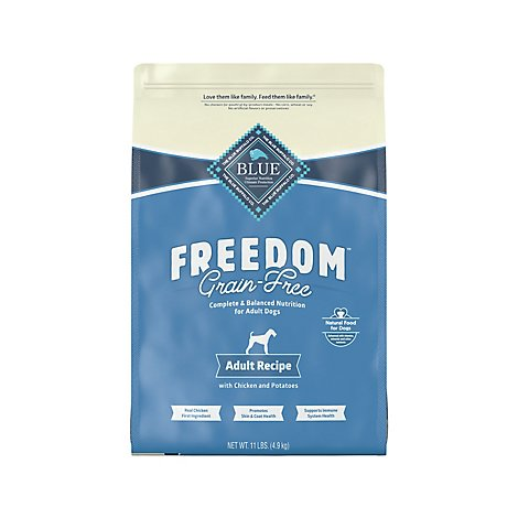 BLUE Freedom Dog Food Adult Grain Free Natural Chicken Recipe - 11 Lb