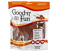 Good n Fun Dog Snacks Triple Flavor Wings - 12 Oz