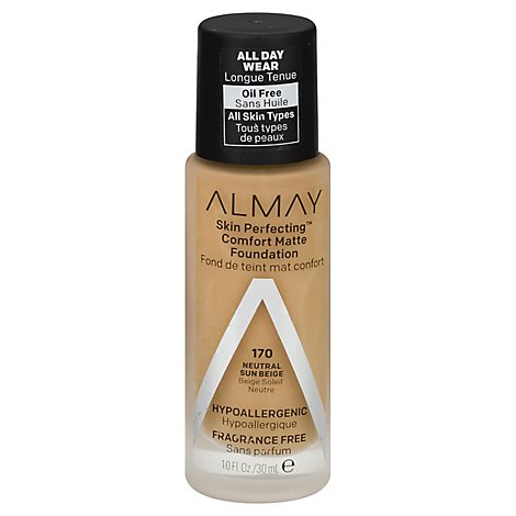 Almay Skin Perfecting Foundation Comfort Matte Neutral Sun Beige - 1 Oz