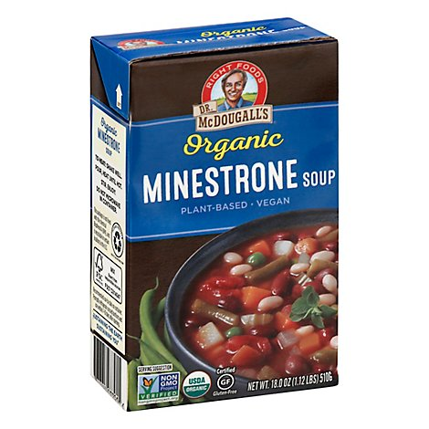 Dr McDougalls Right Foods Organic Soup Minestrone - 18 Oz