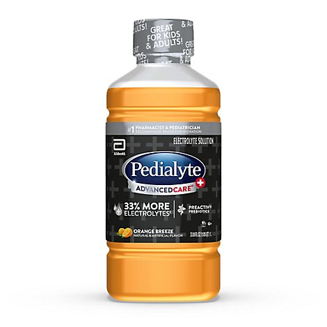 Pedialyte AdvancedCare Plus Electrolyte Solution Orange Breeze - 33.8 Fl. Oz.