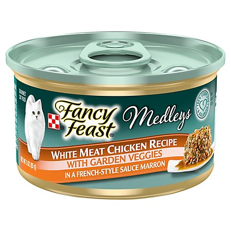 Fancy Feast Cat Food Wet Medleys White Meat Chicken Recipe - 3 Oz