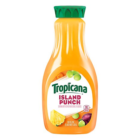 Tropicana Juice Drink Pasteurized Island Punch - 52 Fl. Oz.