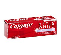 Colgate Optic White Advanced Toothpaste Anticavity Fluoride Sparkling White - 3.2 Oz