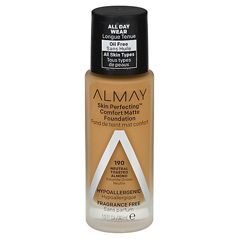 Almay Skin Perfecting Foundation Comfort Matte Natural Toasted Almond - 1 Fl. Oz.