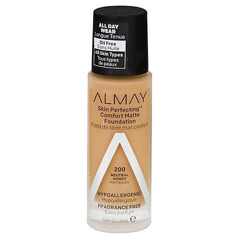 Almay Skin Perfecting Foundation Comfort Matte Neutral Honey - 1 Fl. Oz.