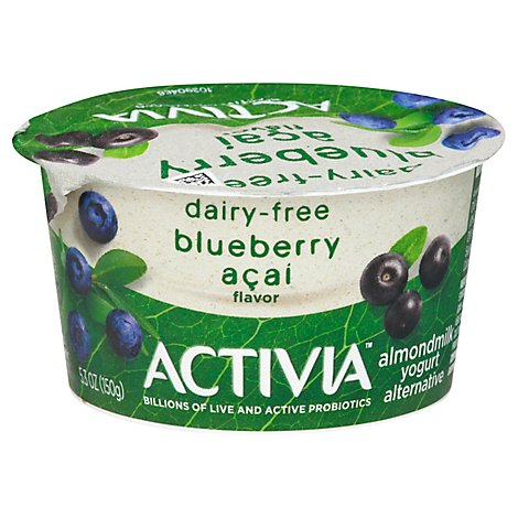 Activia Probiotic Yogurt Dairy Free Almondmilk Blueberry Acai - 5.3 Oz