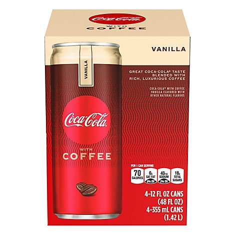 Coca-Cola Soda With Coffee Vanilla - 4-12 Fl. Oz.