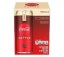 Coca-Cola Soda with Coffee Vanilla Cans - 4-12 Fl. Oz.