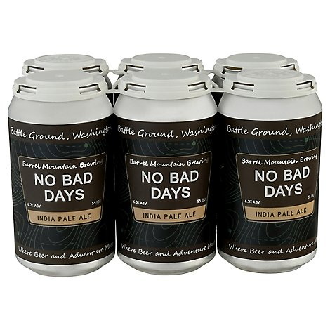 Barrel Mountain No Bad Days Ipa In Cans - 6-12 Fl. Oz.