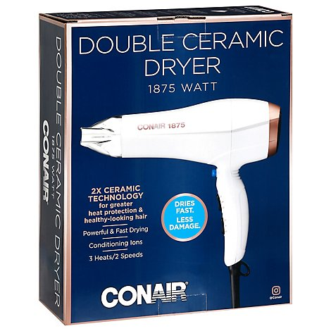 Conair Dryer Double Ceramic 1875 Watt - Each
