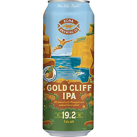 Kona Gold Cliff Ipa Single In Cans - 19.2 Fl. Oz.