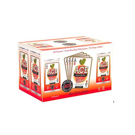 ACE Cider Premium Craft Guava Cans - 6-12 Fl. Oz.