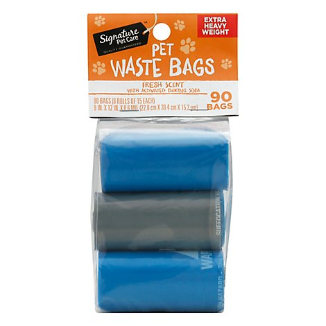 Signature Pet Care Waste Bags Fresh Scent - 90 Count