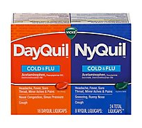 Vicks DayQuil NyQuil Combo Cold & Flu Medicine Liquicaps - 24 Count