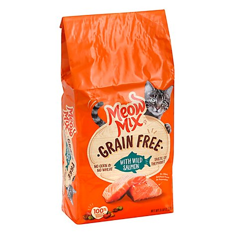 Meow Mix Gf With Wild Salmon Dry Cat Food - 3 Lb