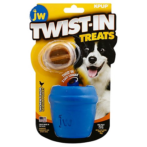 JW Twist In Treats Dog Toy With Treat Chicken Flavor - Each
