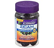 Zicam Cold Remedy Plus Elderberry Medicated Fruit Drops Mixed Berry - 25 Count