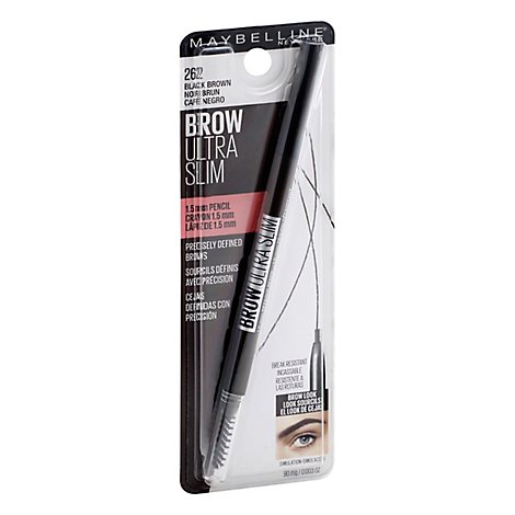 Maybelline Brow Ultra Slim Pencil Black Brown - 0.003 Oz