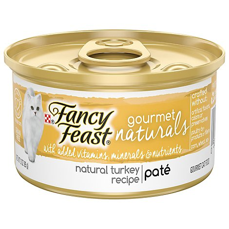 Fancy Feast Cat Food Wet Gourmet Naturals Turkey - 3 Oz