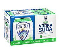 Canteen Lime Vodka Soda - 6-12 Fl. Oz.