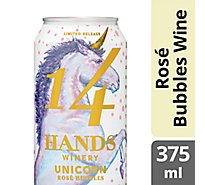 14 Hands Rose Bubbles Unicorn Can Wine - 375 Ml