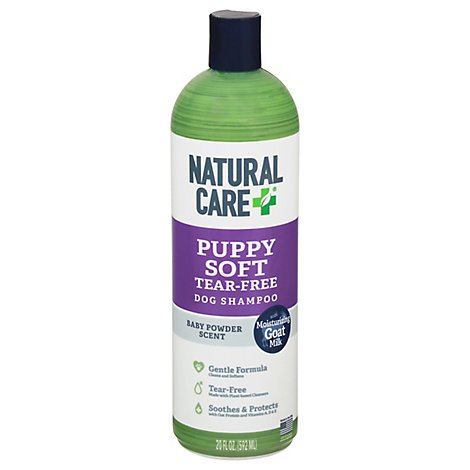 Natural Care Puppy Soft Dog Shampoo Tear Free Baby Powder Scent - 20 Fl. Oz.