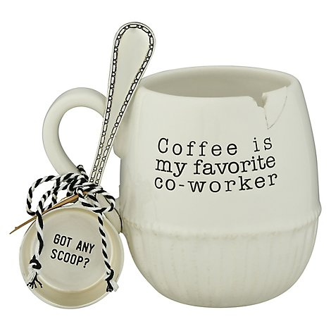 Mud Pie Co Worker Coffee Mug Set - Each