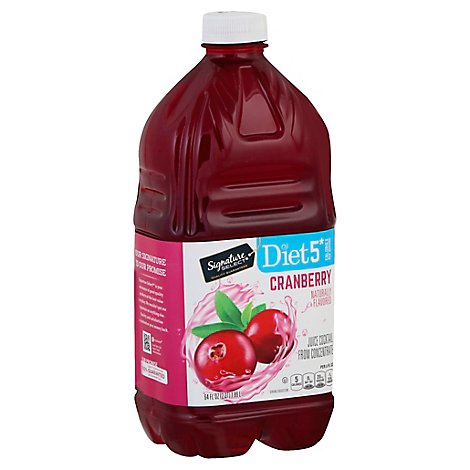 Signature Select Juice Cocktail Cranberry Diet - 64 Fl. Oz.