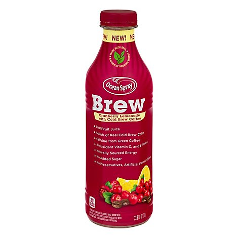 Ocean Spray Brew Cranberry Lemonade - 33.8 Fl. Oz.