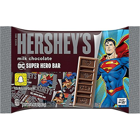 HERSHEYS Milk Chocolate Bar DC Super Hero - 9.45 Oz