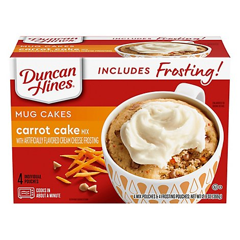 Duncan Hines Mug Cake Mix Carrot With Cream Cheese Frosting - 12.9 Oz