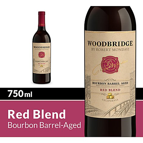 Woodbridge by Robert Mondavi Wine Red Blend Bourbon Barrel Aged - 750 Ml