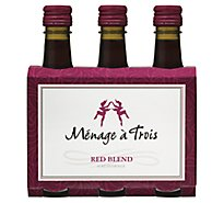 Menage A Trois Red Blend 187ml 3pk Wine - 561 Ml