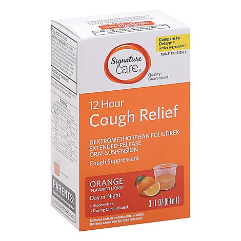 Signature Care Cough Relief 12 Hour Orange - 3 Fl. Oz.