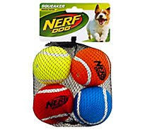 Nerf Dog Tennis Ball Squeaker Medium - 4 Count