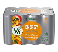 V8 +Energy Juice Peach Mango Flavor - 12-8 Fl. Oz.