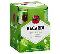 Bacardi Rum Cocktail Lime & Soda 11.8 Proof - 4-355 Ml