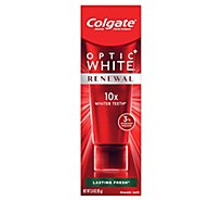Colgate Optic White Renewal Toothpaste Anticavity Fluoride Lasting Fresh - 3 Oz