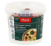 Plated Thai Style Coconut Curry Rice Bowl - 12.1 Oz