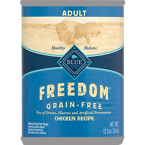 BLUE Freedom Dog Food Adult Grain Free Chicken Recipe - 12.5 Oz